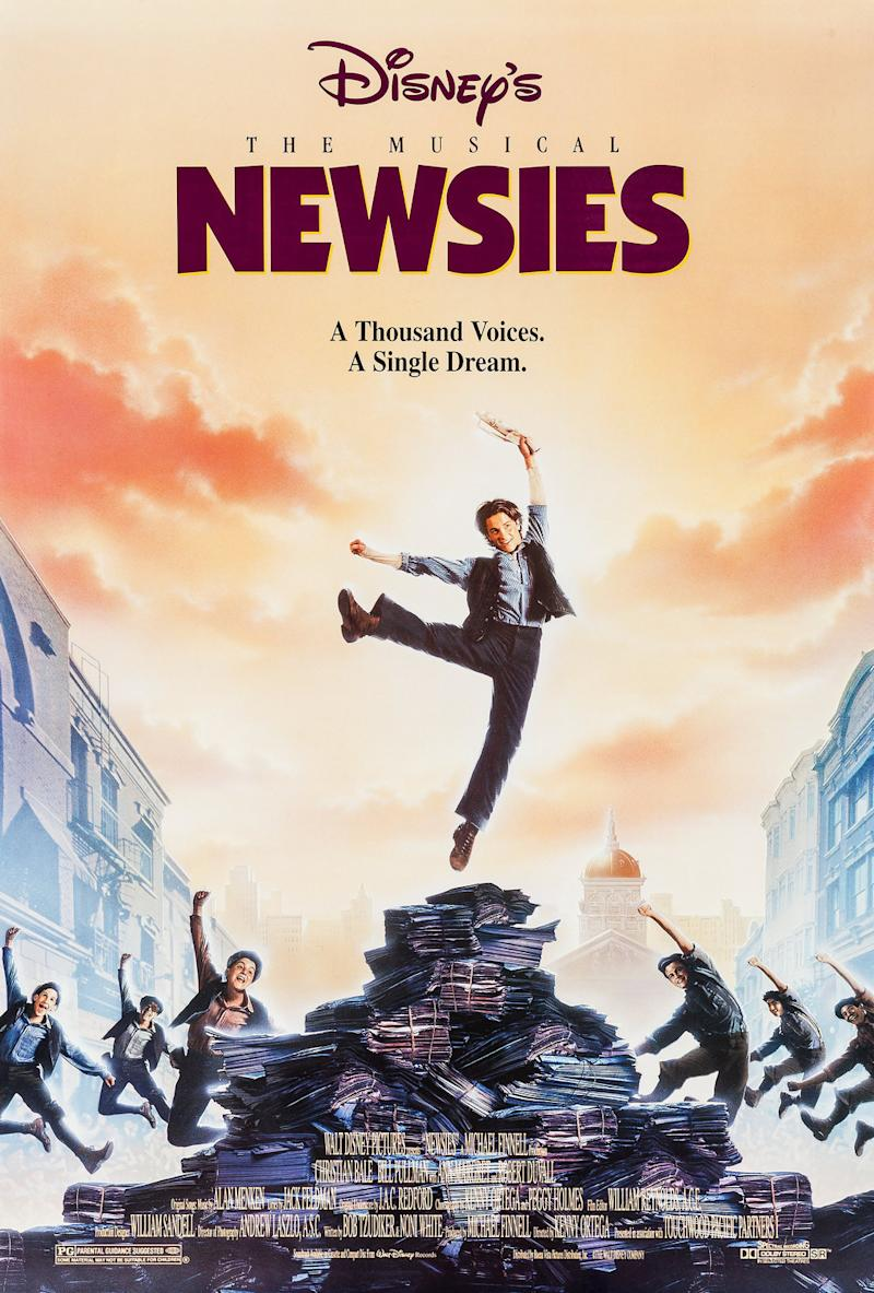 The poster for Newsies. (Disney)