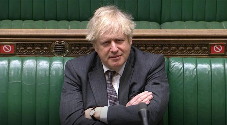 Prime Minister Boris Johnson during the debate in the House of Commons on the EU (Future Relationship) Bill. (Photo by House of Commons/PA Images via Getty Images)
