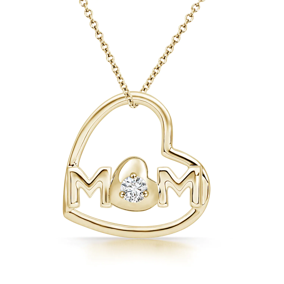 "<h2>Angara Tilted Heart ""MOM"" Pendant Necklace</h2><br><br><strong>Angara</strong> Tilted Heart 'MOM' Diamond Pendant, $, available at <a href=""https://go.skimresources.com/?id=30283X879131&url=https%3A%2F%2Fwww.angara.com%2Fp%2Ftilted-heart-mom-diamond-pendant-sp1548d"" rel=""nofollow noopener"" target=""_blank"" data-ylk=""slk:Angara"" class=""link rapid-noclick-resp"">Angara</a>"