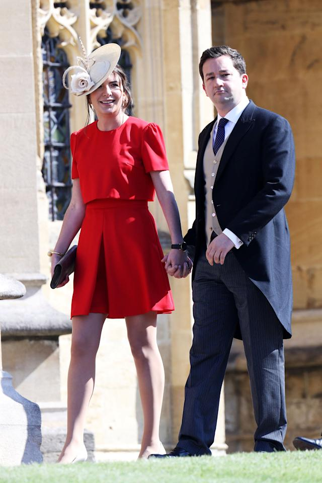 Rebecca Deacon and Adam Priestley arrive at the wedding of Prince Harry to Ms Meghan Markle at St George's Chapel, Windsor Castle in Windsor, Britain, May 19, 2018. Chris Jackson/Pool via REUTERS