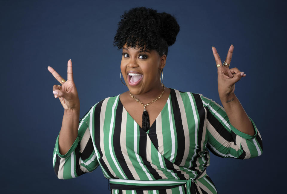 In this Oct. 23, 2018 photo, actress Natasha Rothwell poses for a portrait in Los Angeles. Rothwell claims she is shy in real life, but her scene-stealing supporting roles in HBO's hit show