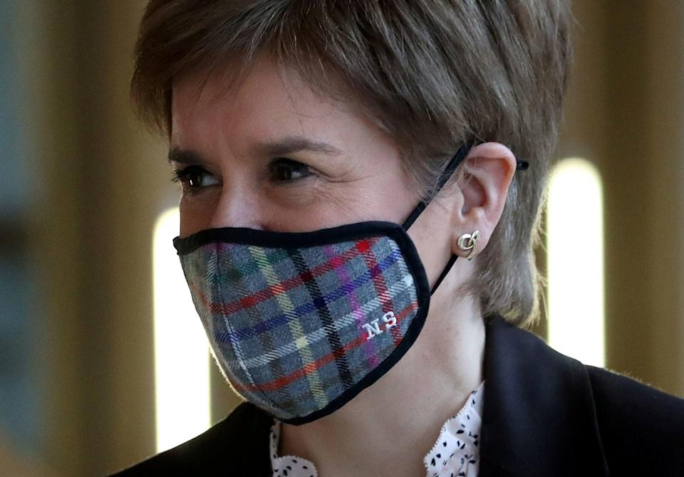 <p>'Conspiracy': Sturgeon has challenged Mr Salmond's claims</p> (REUTERS)