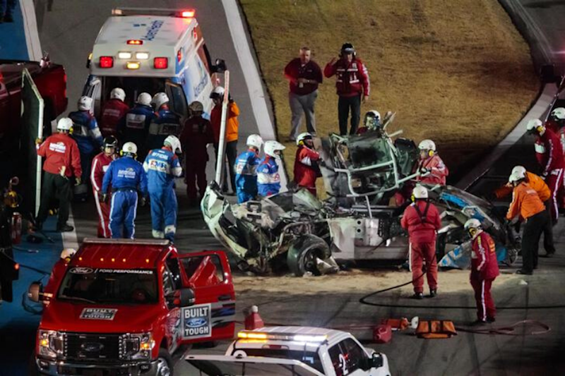 NASCAR: Ryan Newman in Hospital After Horrific Crash During Last Lap, US President Donald Trump Prays for 'Brave Driver'