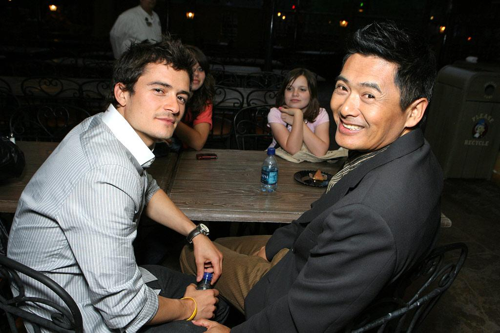 "Orlando and Chow Yun-Fat, yes! Steve Granitz/<a href=""http://www.wireimage.com"" target=""new"">WireImage.com</a> - May 19, 2007"