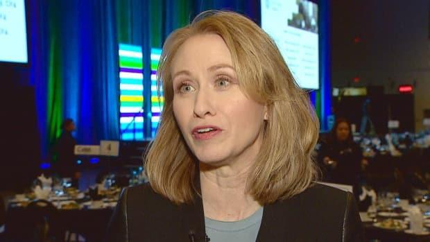 ARC Energy Research Institute executive director Jackie Forrest, seen here in 2019, says though the oil industry is doing well, it's being cautious with its money.