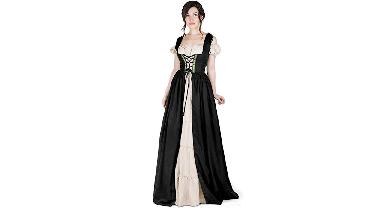 Get suited up for renaissance fairs and Halloween parties alike with this period-appropriate gown.