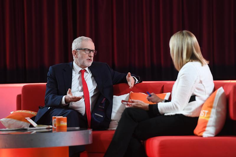 Labour leader Jeremy Corbyn speaking to Louise Minchin on BBC Breakfast from Bolton, while on the General Election campaign trail. (Photo: PA Wire/PA Images)