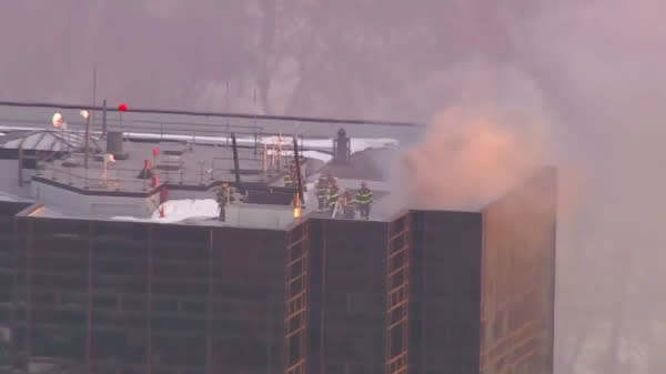 2 Injured In Fire At Trump Tower In New York
