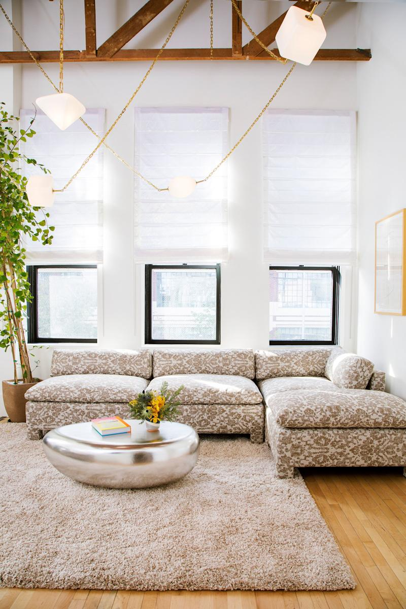 The seating area in the White Room.