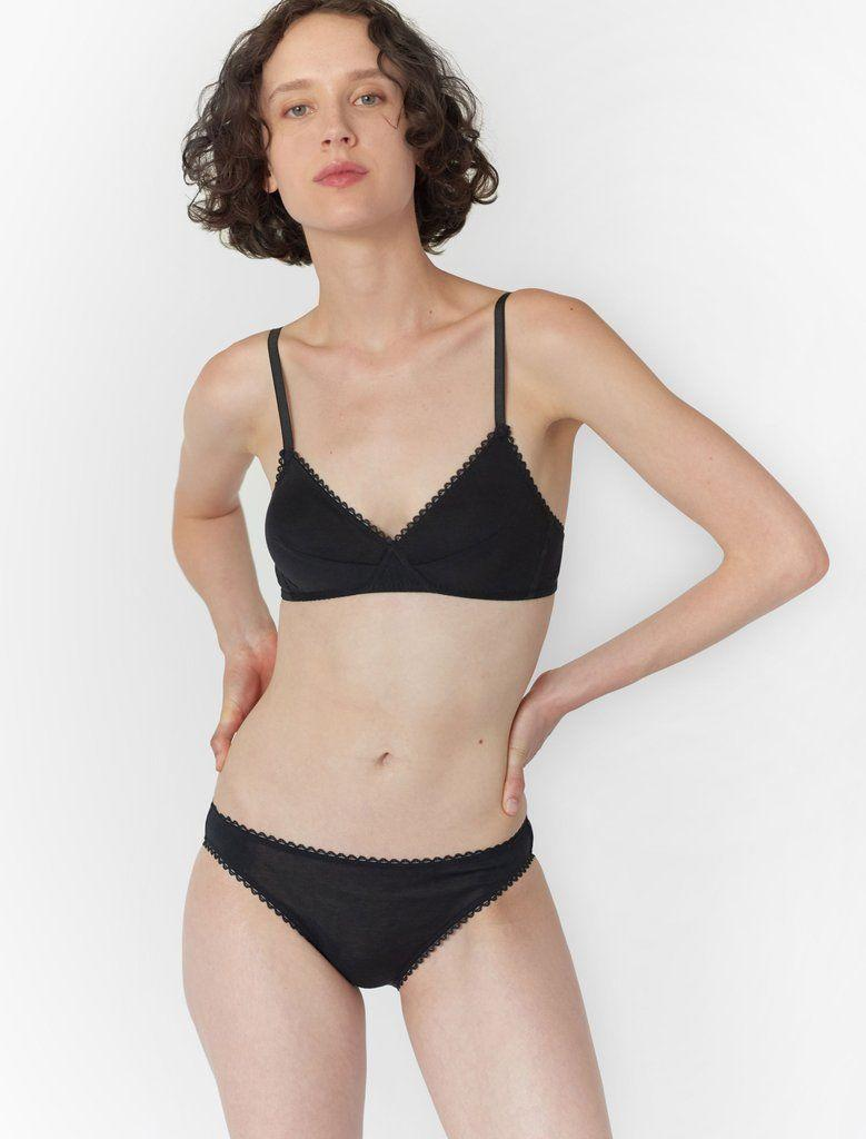 """<a href=""""https://www.araks.com/"""" target=""""_blank"""" rel=""""noopener noreferrer"""">Araks</a> is a sustainable lingerie and swimwear brand that offers minimal styles in both neutrals and bright colors. This set, the Antonia bralette and panty, is available in marigold yellow, papaya orange, rich purple and crisp blue.<br /><br />Bralette available in sizes XS to L; panty available in sizes XS to XL.<br /><br /><strong>Get the Araks <a href=""""https://www.araks.com/products/antonia-bralett-black?variant=6092237013019"""" target=""""_blank"""" rel=""""noopener noreferrer"""">Antonia bralette for $78</a> and the <a href=""""https://www.araks.com/products/isabella-panty-black?variant=246279008"""" target=""""_blank"""" rel=""""noopener noreferrer"""">Isabella panty for $45</a>.</strong>"""