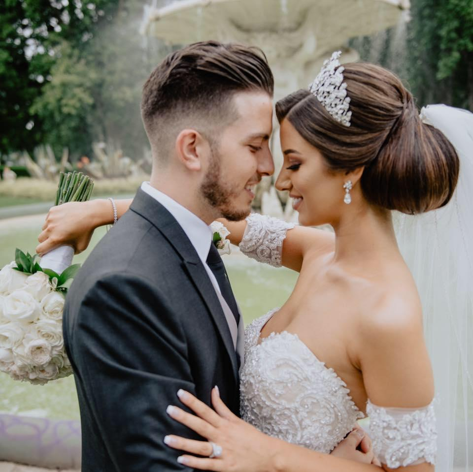 Veton and Lindita Musai are pictured on their wedding day.