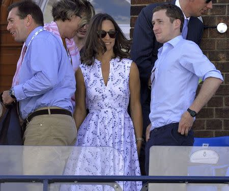 Pippa Middleton arrives to watch a match at the Queen's Club Championships tennis tournament in London