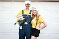 """<p>Don't have overalls or suspenders? No problem. This blogger drew her suspenders on with a black marker. </p><p><strong>Get the tutorial at <a href=""""https://amber-oliver.com/2016/10/diy-minion-costume/"""" rel=""""nofollow noopener"""" target=""""_blank"""" data-ylk=""""slk:Amber Oliver."""" class=""""link rapid-noclick-resp"""">Amber Oliver.</a></strong> </p><p><strong><strong><a class=""""link rapid-noclick-resp"""" href=""""https://www.amazon.com/Costume-Sunglasses-Minion-Goggles-Sun-Staches/dp/B00CXMG3HM/ref=sr_1_1?tag=syn-yahoo-20&ascsubtag=%5Bartid%7C10050.g.28305850%5Bsrc%7Cyahoo-us"""" rel=""""nofollow noopener"""" target=""""_blank"""" data-ylk=""""slk:SHOP MINION GOGGLES"""">SHOP MINION GOGGLES</a></strong><br></strong></p>"""