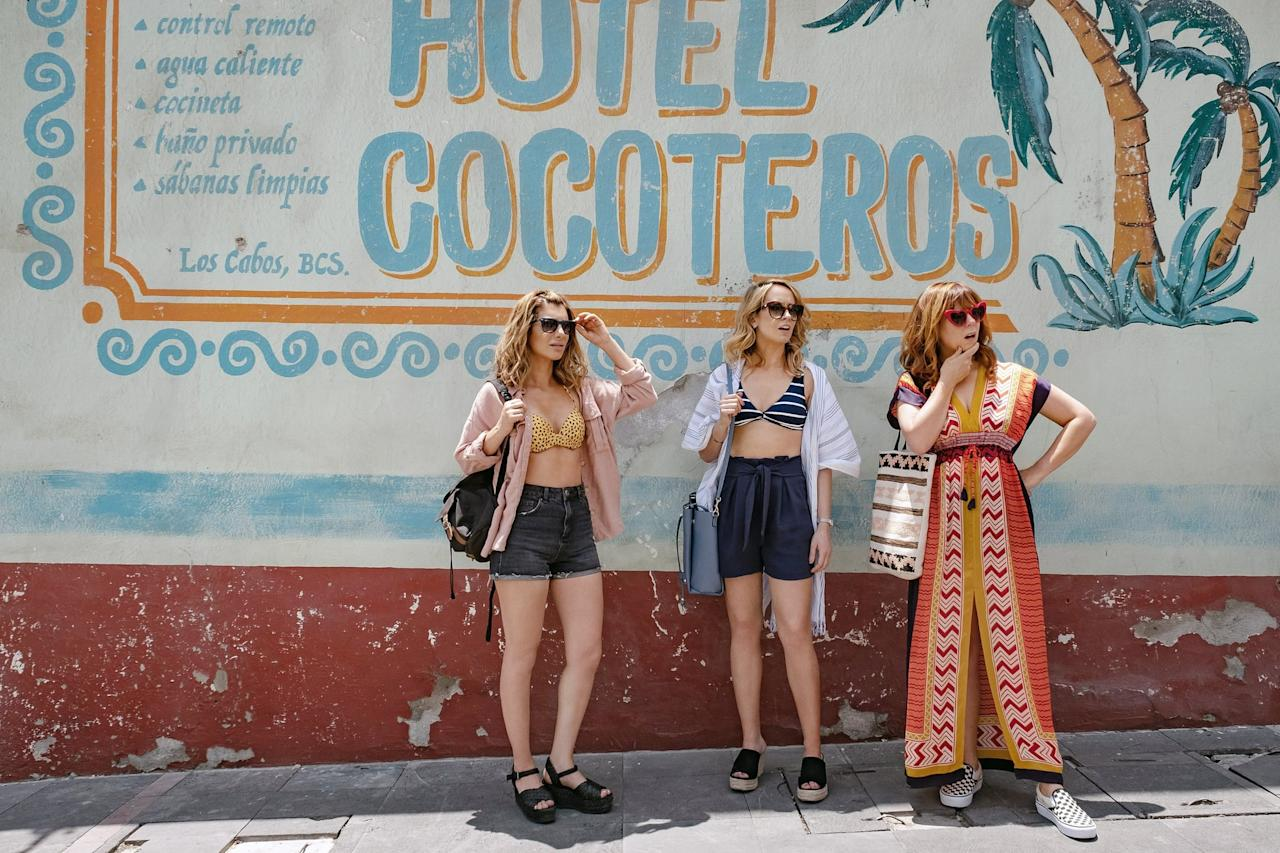 """<p>A messy singleton (Nasim Pedrad) drunkenly sends a rambling email to a man she incorrectly thought had ghosted her, only to find out that he got into an accident and hasn't seen the message yet. Cue a trip to Mexico with her two best friends (Anna Camp and Sarah Burns), desperately trying to get the message deleted before he can see it and figuring out where she really should be looking for love.</p> <p><a href=""""http://www.netflix.com/title/80238203"""" target=""""_blank"""" class=""""ga-track"""" data-ga-category=""""internal click"""" data-ga-label=""""http://www.netflix.com/title/80238203"""" data-ga-action=""""body text link"""">Watch <strong>Desperados</strong> on Netflix</a>.</p>"""