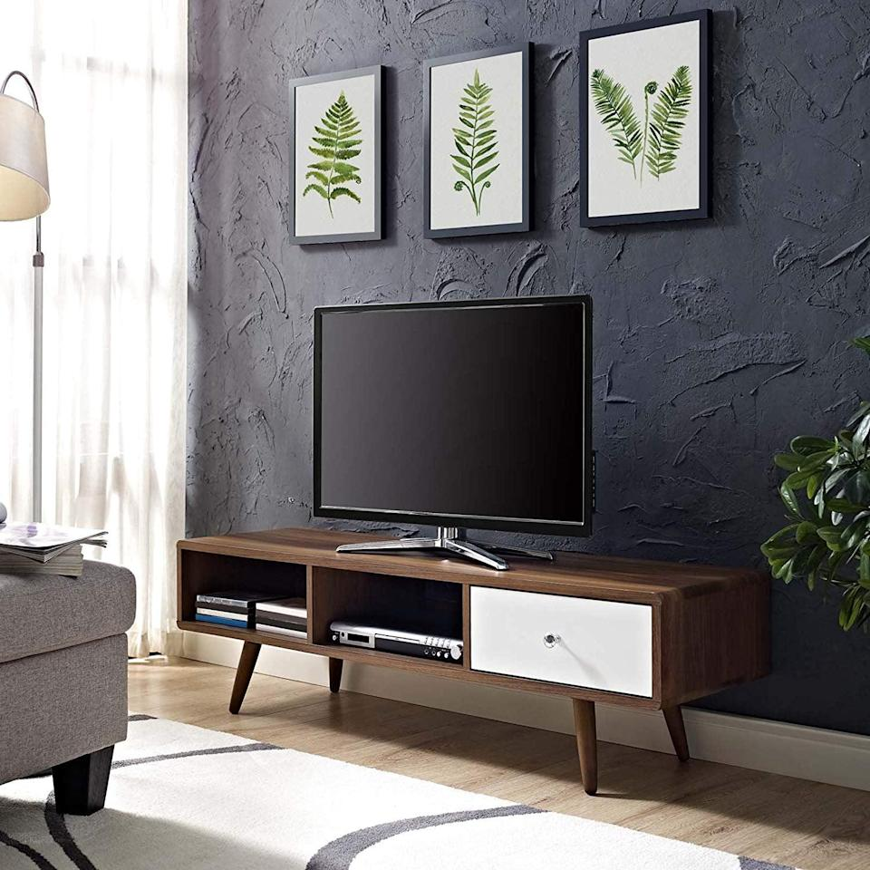 <p>How cool is this <span>Modway Transmit Midcentury Modern TV Stand</span> ($156)?</p>