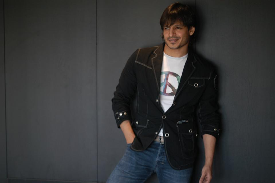NEW DELHI, INDIA - OCTOBER 12, 2007: Bollywood actor Vivek Oberoi poses during his profile shoot, on October 12, 2007 in New Delhi, India. (Photo by Raj K Raj/Hindustan Times via Getty Images)