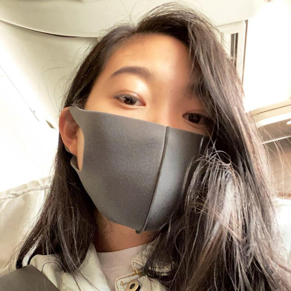 """Being blunt is 2020's good friend,"" says Reyman about <a href=""https://www.allure.com/story/awkwafina-interview-skin-care-products-la-mer-cleanser?mbid=synd_yahoo_rss"" rel=""nofollow noopener"" target=""_blank"" data-ylk=""slk:Awkwafina"" class=""link rapid-noclick-resp"">Awkwafina</a>'s one-length cut. ""The most obvious version of this is a bob — but you do not have to chop off a ton of hair to get the blunt effect. This look can be achieved in a more versatile haircut by choosing blunt accent pieces around the face."""