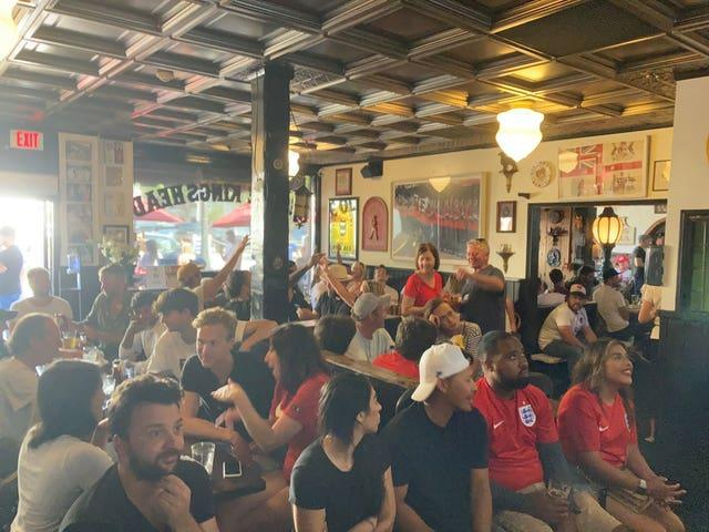 Fans watching Italy v England – Euro 2020 – Final
