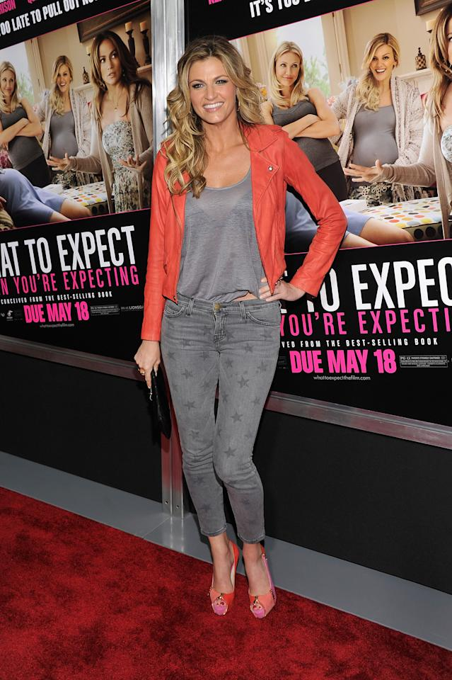 "NEW YORK, NY - MAY 08:  Erin Andrews attends the ""What To Expect When You're Expecting"" New York Screening at AMC Lincoln Square Theater on May 8, 2012 in New York City.  (Photo by Stephen Lovekin/Getty Images)"
