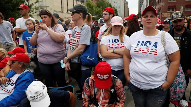 As many as 19,000 are expected to attend a rally for US President Donald Trump in Tulsa, Oklahoma
