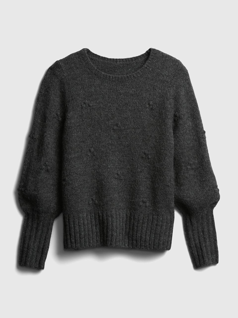 <p>Pair it with this perfectly on trend <span>Gap Puff-Sleeve Sweater</span> ($58).</p>