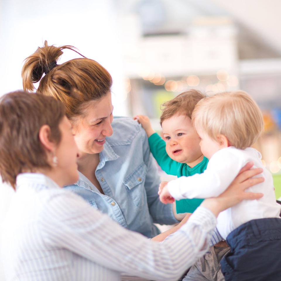 """<p>Unlike 50 years ago, when there was always a family member around to support a new mom, a lot of women are totally on their own post-delivery in 2017. """"We don't see a lot of extended families anymore where the mom, sisters, and grandmothers are all around helping with the baby,"""" Minkin says. Because of that, she recommends meeting up with new moms going through the same experience - not just for the emotional support, but for when you literally need a helping hand, too. It takes a village, right? </p>"""