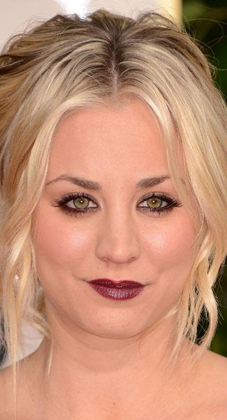 Top 10 Beauty Trends At Golden Globe Awards 2013: Red Wine Lips To Retro Waves