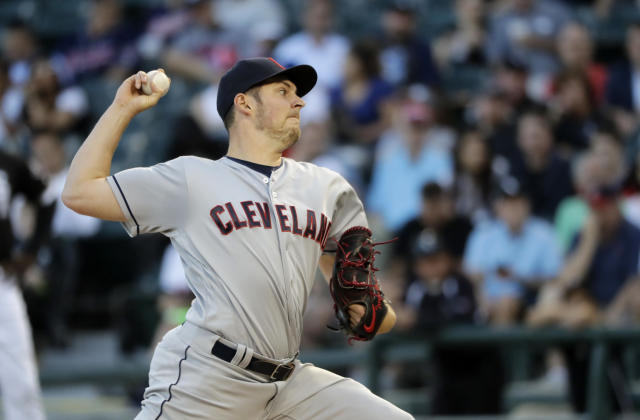 "<a class=""link rapid-noclick-resp"" href=""/mlb/teams/cle"" data-ylk=""slk:Cleveland Indians"">Cleveland Indians</a> starting pitcher <a class=""link rapid-noclick-resp"" href=""/mlb/players/9122/"" data-ylk=""slk:Trevor Bauer"">Trevor Bauer</a> is finally living up to his potential (AP Photo)."