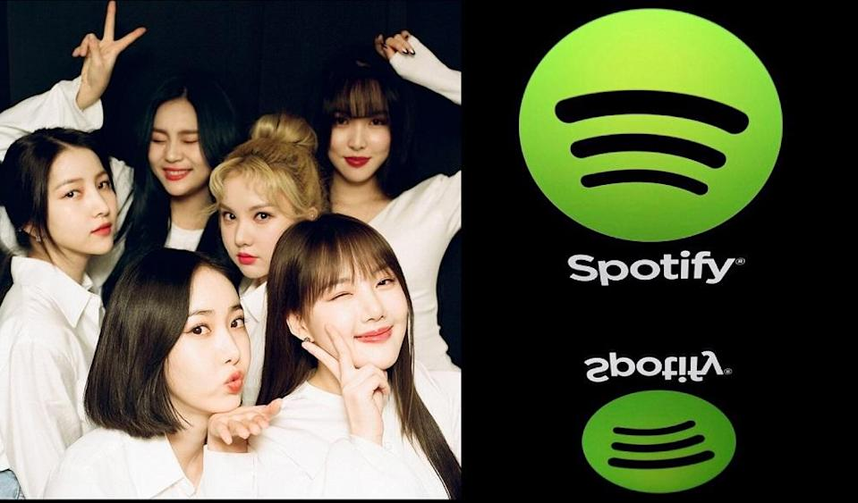 Groups like Gfriend had a huge chunk of their discography taken down from Spotify due to the disagreement. — Pictures via Instagram/gfriendofficial and AFP