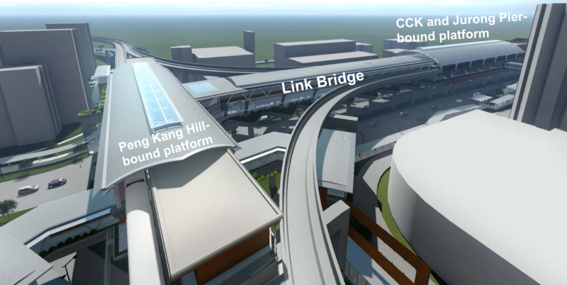 Artist impression of Baha Junction station. (IMAGE: Land Transport Authority)