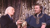 """<p>Episodes 2 and 4 of this four-parter are missing from the archives. But 'The Crusade', charting a holy war between the forces of King Richard the Lionheart and the Saracen ruler Saladin, was released to VHS in 1999, with companion actor William Russell reprising his role as an aged Ian Chesterton to help bridge the gaps, recounting what happened in the missing episodes.</p><p>The <a href=""""https://www.amazon.co.uk/Doctor-Who-Lost-Time-DVD/dp/B0002XOZW4/"""" rel=""""nofollow noopener"""" target=""""_blank"""" data-ylk=""""slk:Lost in Time DVD boxset"""" class=""""link rapid-noclick-resp""""><em>Lost in Time</em> DVD boxset</a>, released in 2004, also contains the two surviving episodes, the audio soundtracks for episodes 2 and 4 and the bridging sequences featuring Russell.</p>"""