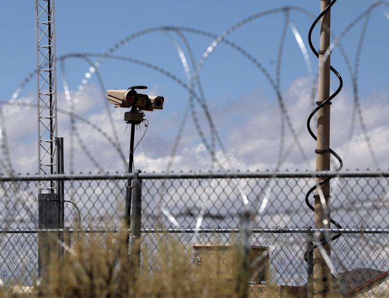 Razor wire and security cameras at the entrance to Area 51 as an influx of tourists responding to a call to 'storm' Area 51, a secretive U.S. military base believed by UFO enthusiasts to hold government secrets about extra-terrestrials, is expected in Rachel, Nevada, Sept. 19, 2019. (Photo: Jim Urquhart/Reuters)
