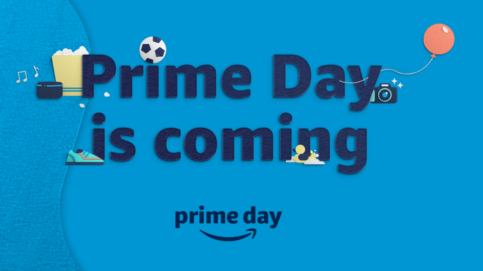 a 'Prime Day is coming' sign