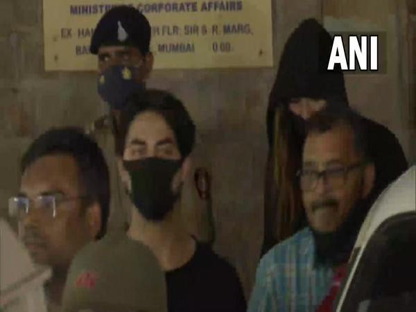 Visual of accused individual, Aryan Khan after the Court hearing (Photo/ANI)