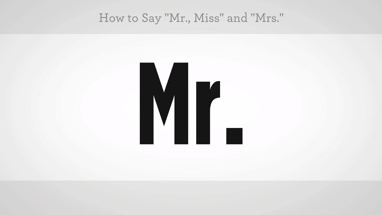How To Say Mr Miss Mrs In Mandarin Chinese Video