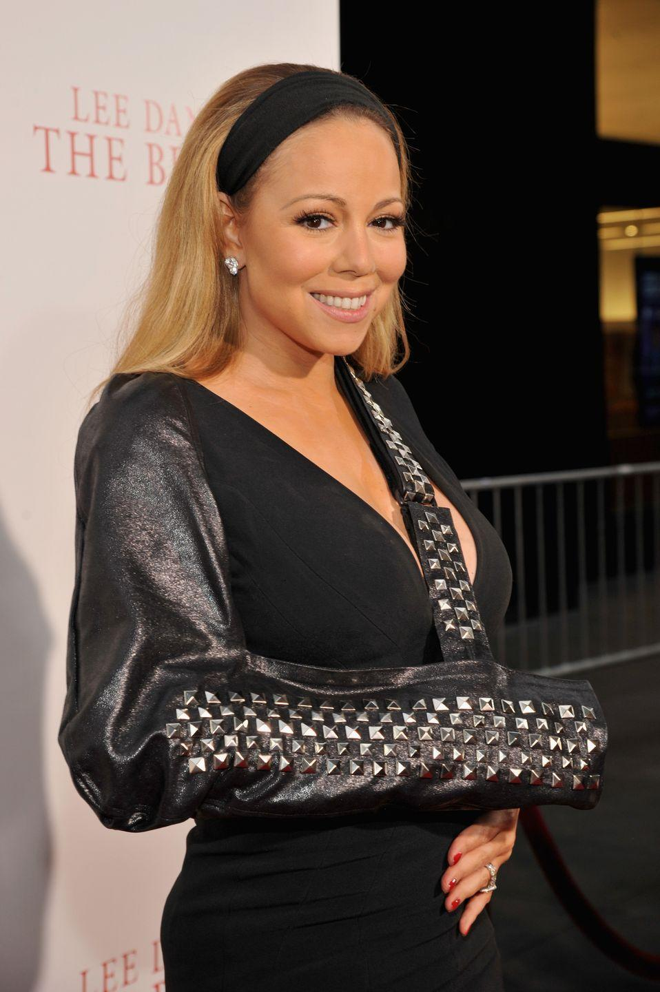 <p>Have a video meeting that you forgot about and need to be on camera? Just grab a thick headband in a neutral color like black and use it to push your short hair back off of your face. Singer <strong>Mariah Carey</strong> gives you an idea of the instantly polished look!</p>