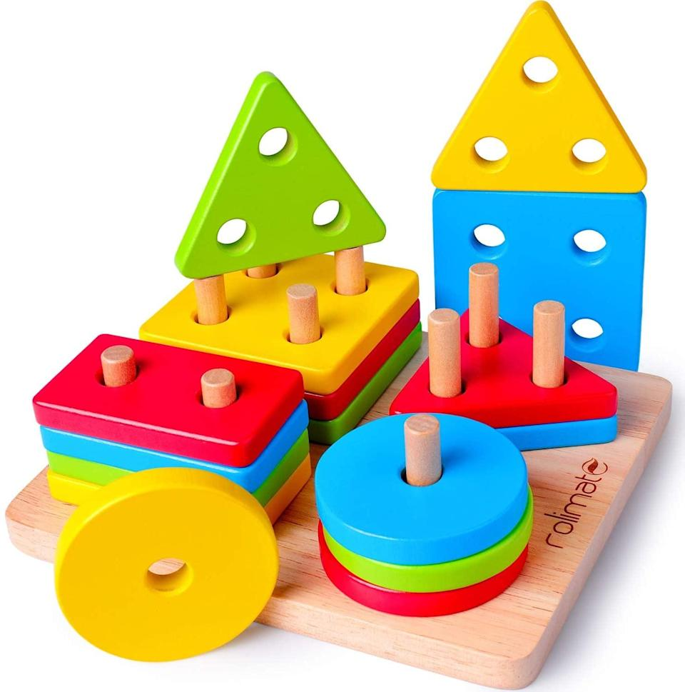 Montessori Toddler Toys for Fine Motor Skills WOOD CITY Toddler Puzzles Preschool Kids Learning /& Educational Wooden Puzzles Toy with 4 Animal Patterns Gift for Boys and Girls 1 2 3 Years Old