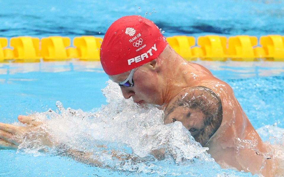 Adam Peaty of Great Britain wins his 100m breaststroke semi-final on day two - Getty Images