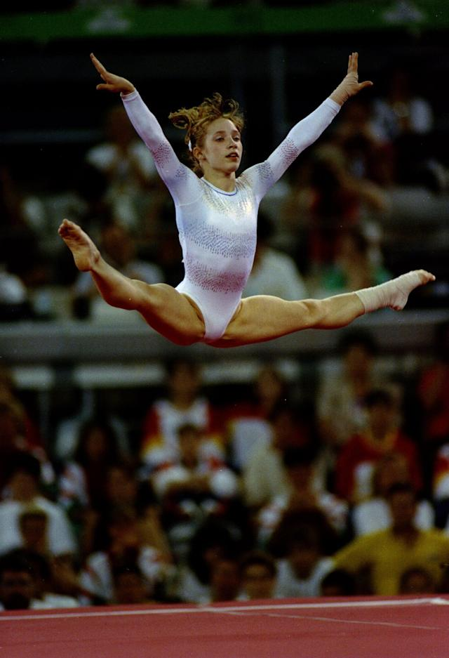 1992: Kim Zmeskal of the USA in action in the floor exercise at the 1992 Summer Games in Barcelona, Spain. Zmeskal placed 6th in the floor exercise and 10th in the All-Around. Mandatory Credit: David Cannon/Allsport