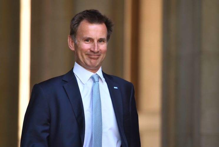 Health Secretary Jeremy Hunt earlier denied any cabinet split over the immigration issue (PA)