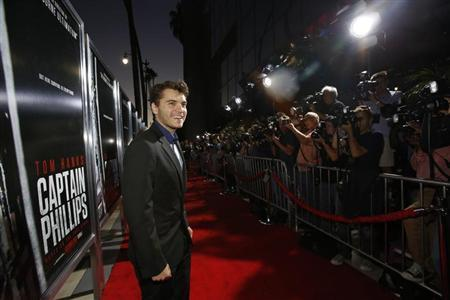 """Actor Emile Hirsch poses at the premiere of """"Captain Phillips"""" at the Academy of Motion Picture Arts and Sciences in Beverly Hills, California September 30, 2013. REUTERS/Mario Anzuoni/Files"""