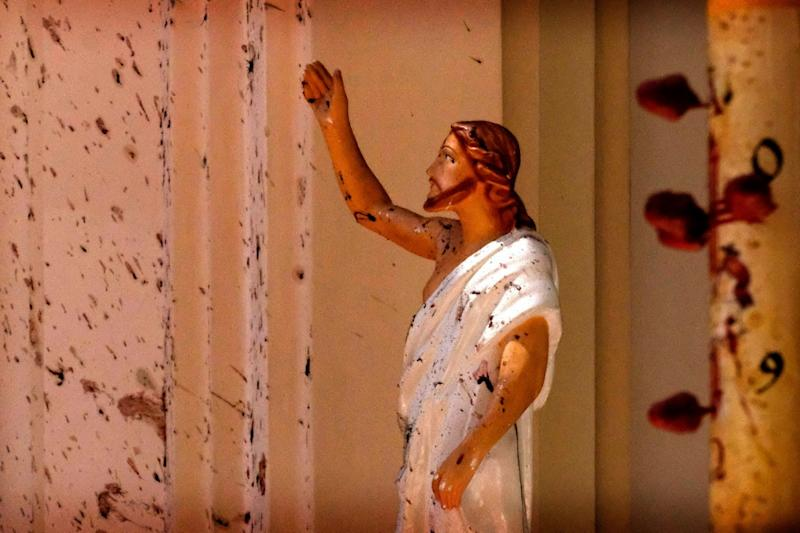 How an Image of Blood-stained Jesus from Sri Lanka Blasts Became a Symbol of Bleeding Country