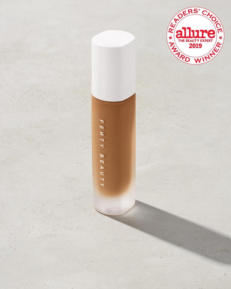 "<br><br><strong>Fenty Beauty</strong> Pro Filt'r Soft Matte Longwear Foundation, $, available at <a href=""https://go.skimresources.com/?id=30283X879131&url=https%3A%2F%2Ffave.co%2F340TPns"" rel=""nofollow noopener"" target=""_blank"" data-ylk=""slk:Fenty Beauty"" class=""link rapid-noclick-resp"">Fenty Beauty</a>"