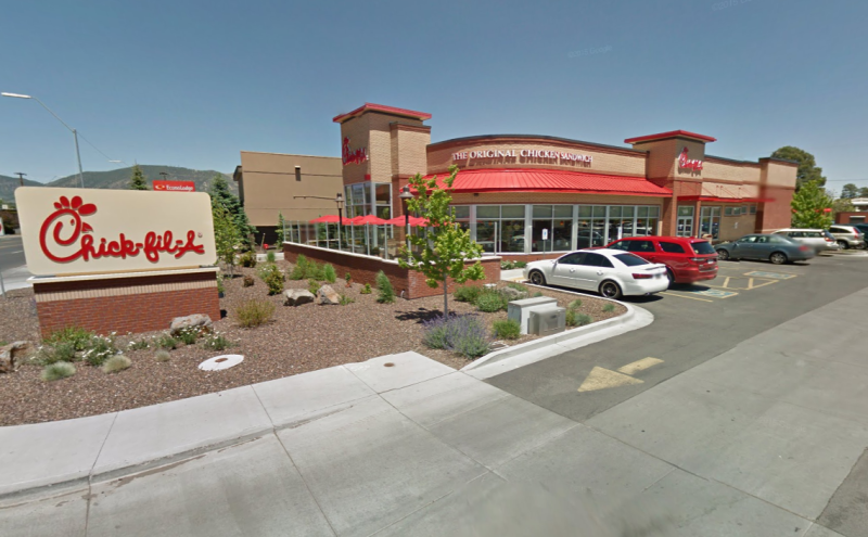 """The Arizona Chic-fill-A restaurant in Arizona where a staff member called the jumper """"ugly"""". Source: Google Maps"""