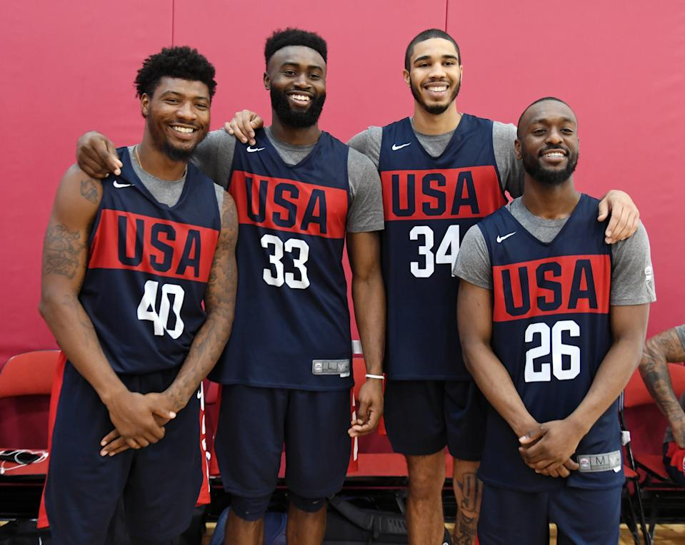 Four of the 12 players on Team USA are on the Celtics. (Getty Images)