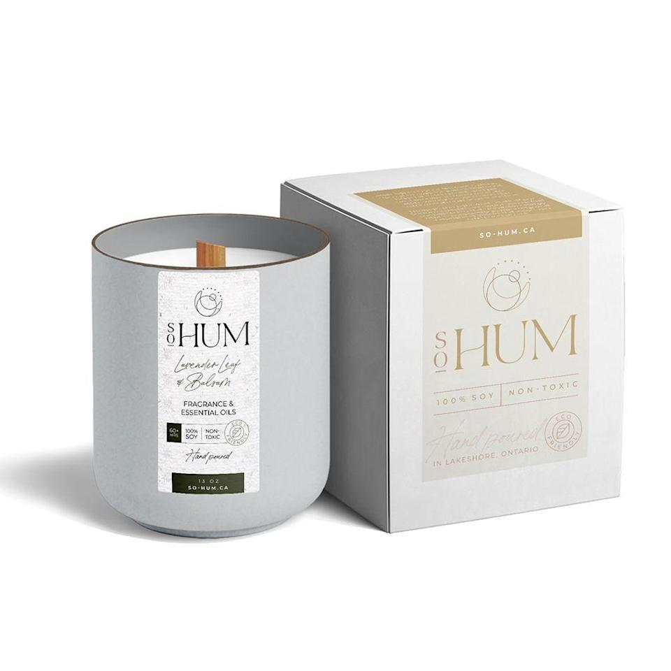 """<p><strong>SoHum</strong></p><p>so-hum.ca</p><p><strong>$24.00</strong></p><p><a href=""""https://go.redirectingat.com?id=74968X1596630&url=https%3A%2F%2Fwww.so-hum.ca%2Fproducts%2Flavender-leaf-balsam&sref=https%3A%2F%2Fwww.bestproducts.com%2Flifestyle%2Fg37625671%2Fstepmom-gift-ideas%2F"""" rel=""""nofollow noopener"""" target=""""_blank"""" data-ylk=""""slk:Shop Now"""" class=""""link rapid-noclick-resp"""">Shop Now</a></p><p>There's no better stepmom gift than a dreamy candle. And since the lavender and balsam scent of this candle is supposed to help ease anxiety, calm the senses, and help you relax, it'll help turn her home into a true oasis. A wood wick crackles while it burns, which is sure to give her that warm and fuzzy feeling every time she lights it.</p>"""
