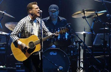 FILE PHOTO - Glenn Frey of the rock group 'The Eagles' performs at a concert in honour of Monaco's Prince Albert II and his fiancee Charlene Wittstock at the Stade Louis II stadium in Monaco June 30, 2011.     REUTERS/Benoit Tessier