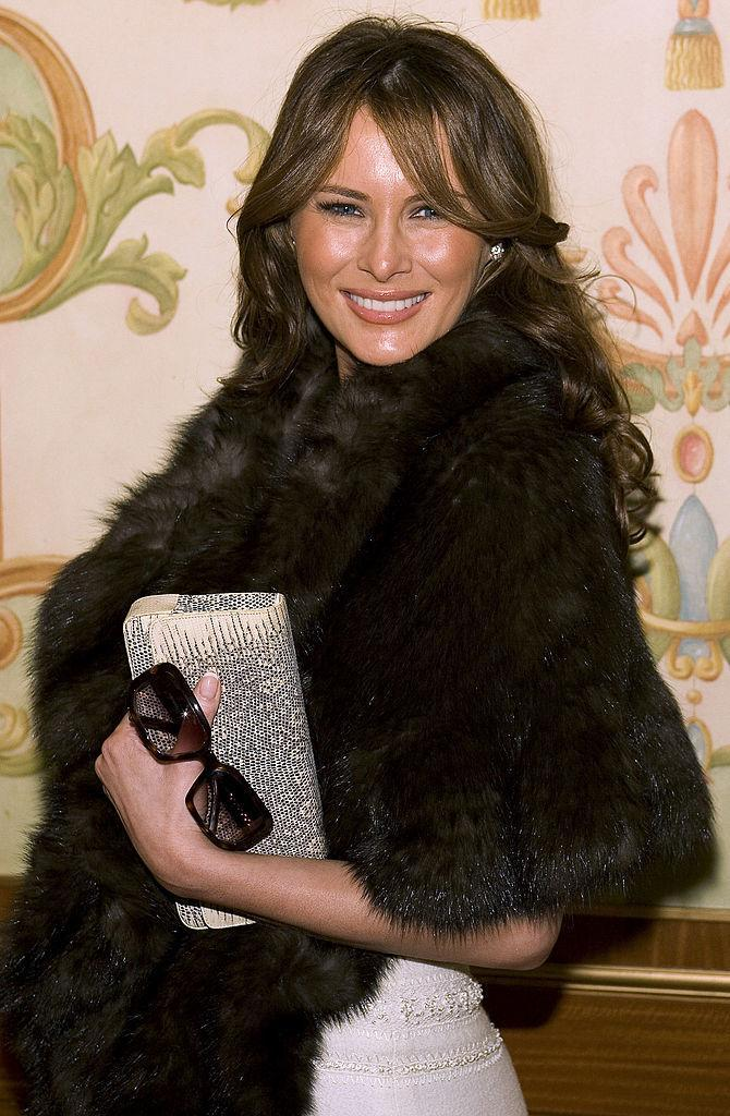 FLOTUS Melania Trump has worn real fur often in public, and PETA advocate Pamela Anderson wants to inspire her to go faux. (Photo: Getty)