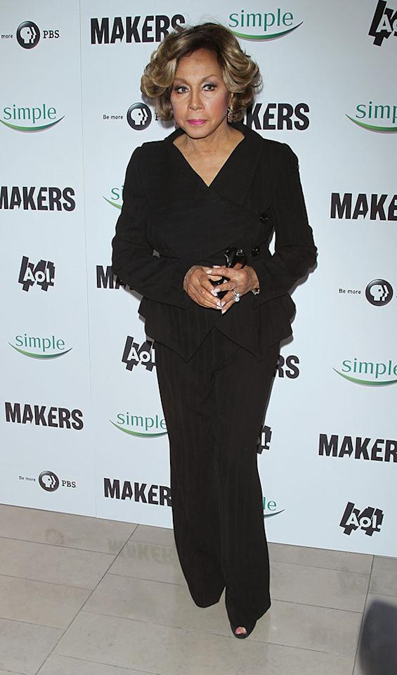"Diahann Carroll arrives at ""MAKERS: Women Who Make America"" New York Premiere at Alice Tully Hall on February 6, 2013 in New York City."