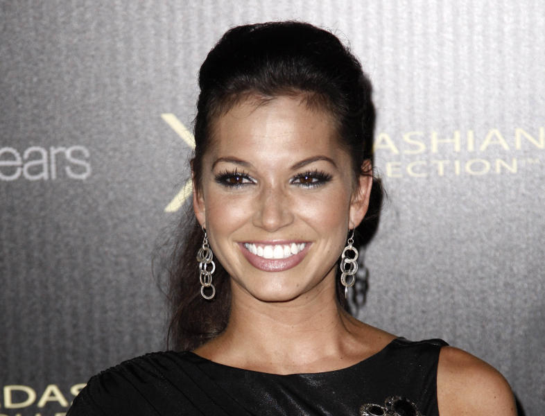 "FILE - This Aug. 17, 2011 file photo shows former ""The Vachelor"" contestant Melissa Rycroft at the Kardashian Kollection launch party in Los Angeles. Rycroft stars in the CMT reality show called ""Melissa & Tye."" (AP Photo/Matt Sayles, file)"